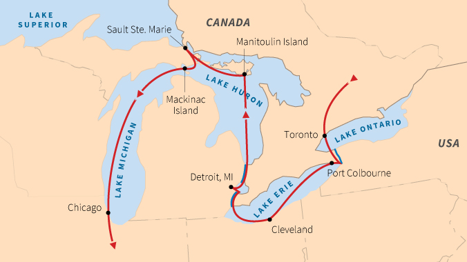 Sail all five great lakes