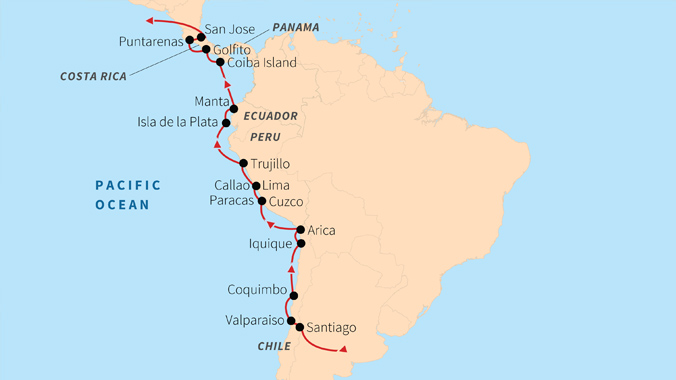 Chile to Costa Rica on the Albatross